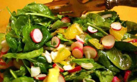 Les épinards et le radis